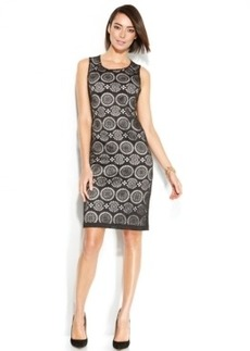 Alfani Laser-Cut Sheath Scuba Dress
