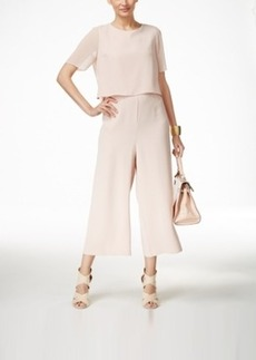 Alfani Layered Culotte Jumpsuit, Only at Macy's