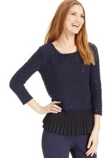Alfani Layered-Look Sequined Sweater, Only at Macy's