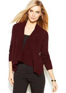 Alfani Long-Sleeve Textured Open-Front Cardigan
