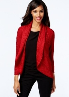 Alfani Lurex Open-Front Cardigan Sweater, Only at Macy's