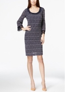 Alfani Metallic Crochet-Trim Lace Dress, Only at Macy's