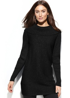 Alfani Metallic Tunic Sweater
