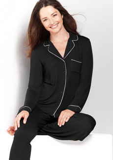 Alfani Black Rayon Knit Top and Pajama Pants