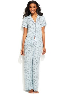 Alfani Notch Collar Shirt and Pajama Pants Set