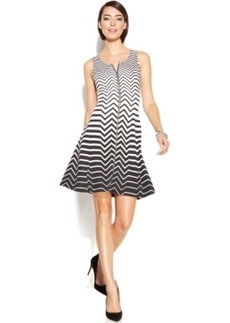 Alfani Ombre Chevron-Stripe Scuba Dress