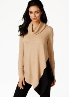 Alfani Petite Asymmetrical-Hem Cowl-Neck Sweater, Only at Macy's