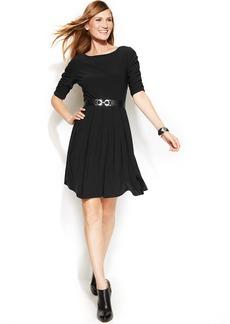 Alfani Petite Belted A-Line Dress