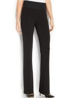 Alfani Wide-Leg Seam Front Bootcut Pants