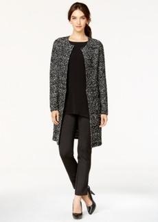 Alfani Petite Boucle Side-Zip Car Coat, Only at Macy's