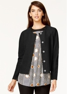 Alfani Button-Front Wool Cardigan, Only at Macy's