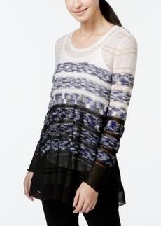 Alfani Chiffon-Hem Trapeze Sweater, Only at Macy's