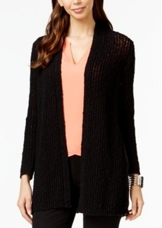 Alfani Petite Crochet Chiffon-Back Cardigan, Only at Macy's