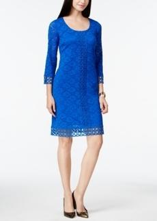 Alfani Petite Crochet-Lace Shift Dress, Only at Macy's