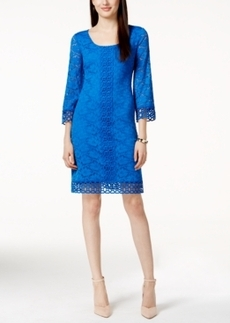 Alfani Petite Crochet-Lace Shift Dress, Only at Macy's