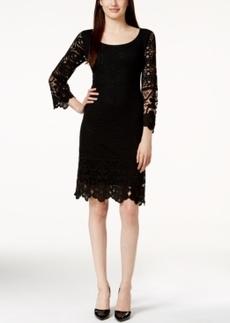 Alfani Petite Crochet Lace Shift Dress, Only at Macy's