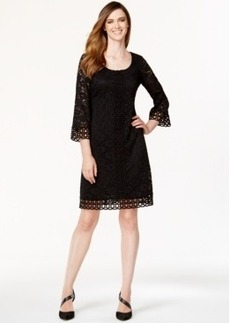 Alfani Petite Crochet-Trim Lace Dress