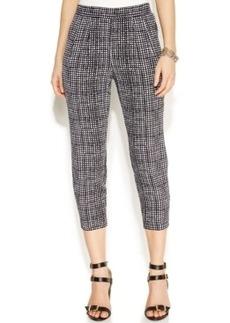 Alfani Petite Cropped Printed Soft Pants