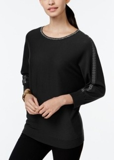 Alfani Embellished-Trim Dolman Sleeve Top, Only at Macy's