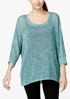 Alfani Hi-Low Sheer Knit Sweater, Only at Macy's