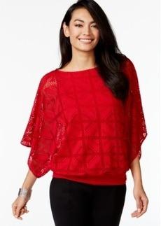 Alfani Petite Kimono-Sleeve Mesh Top, Only at Macy's