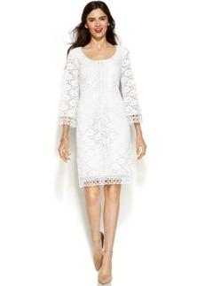 Alfani Petite Lace Overlay Shift Dress