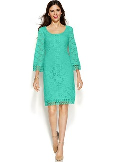 Alfani Petite Lace Overlay Shift Dress