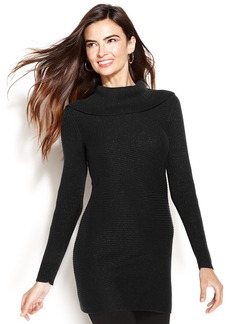 Alfani Petite Long-Sleeve Metallic Tunic