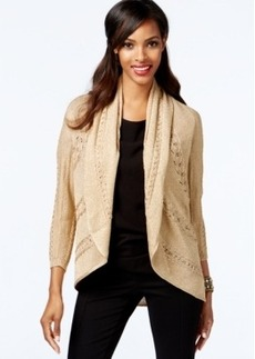 Alfani Petite Lurex Open-Front Cardigan Sweater, Only at Macy's