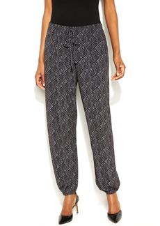 Alfani Petite Printed Soft Jogger Pants