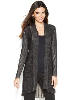 Alfani Petite Ribbed-Knit Long Cardigan