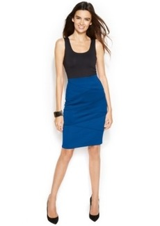Alfani Petite Scuba-Panel Pencil Skirt