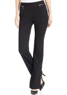 Alfani Petite Seamed Faux-Zip Trousers, Only at Macy's