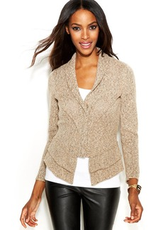 Alfani Petite Shawl-Collar Tiered Knit Cardigan
