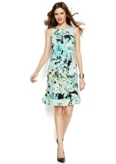 Alfani Sleeveless Floral-Print Scuba Dress