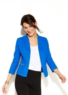 Alfani Petite Three-Quarter-Sleeve Textured Blazer