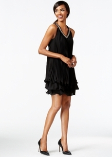 Alfani Petite Tiered-Hem Pleated Shift Dress, Only at Macy's