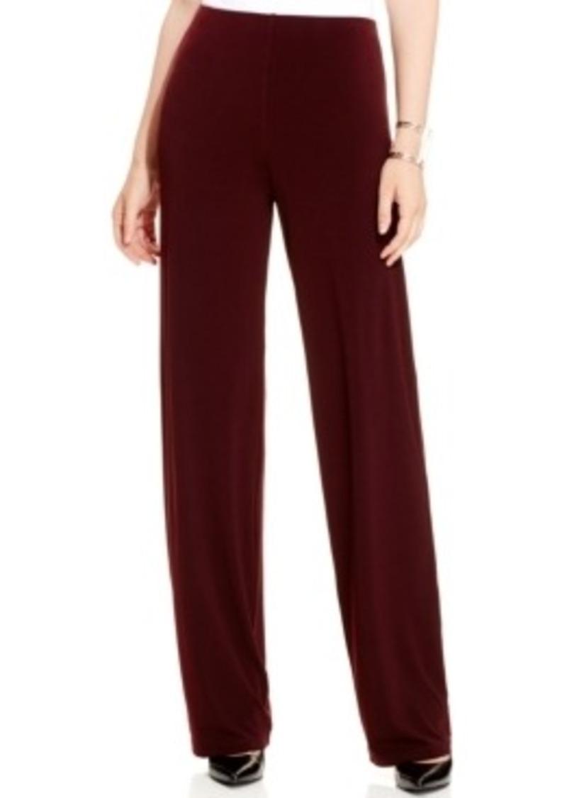 Pants alfani petite wide leg knit dress pants only at macy s