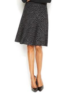 Alfani Petite Zebra-Print A-Line Skirt