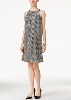 Alfani Pleat-Neck Halter Dress, Only at Macy's