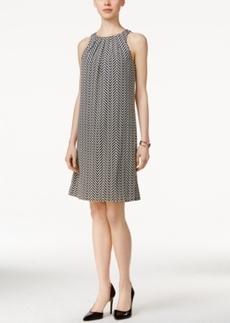 Alfani Pleat-Neck Halter Dress, Only at Macy's
