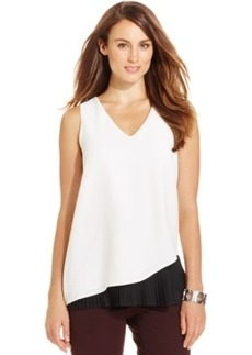 Alfani Pleated-Hem Asymmetrical Top, Only at Macy's