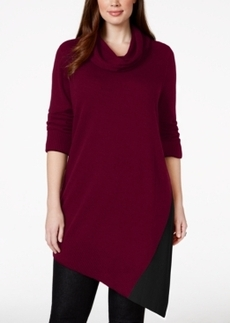 Alfani Plus Cowl-Neck Asymmetrical-Hem Sweater, Only at Macy's