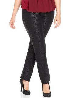 Alfani Plus Size Animal-Print Straight-Leg Pants