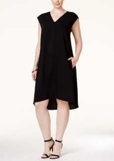 Alfani Plus Size Asymmetric A-Line Dress, Only at Macy's