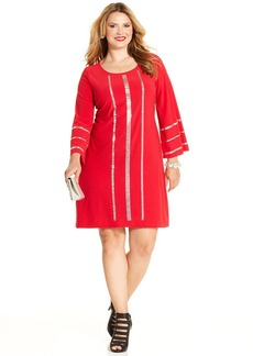 Alfani Plus Size Beaded Shift Dress