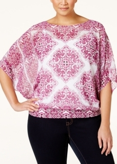 Alfani Plus Size Blouson Chiffon Top, Only at Macy's
