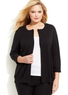 Alfani Plus Size Chiffon-Back Cardigan