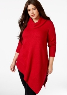 Alfani Plus Size Cowlneck Poncho-Style Sweater, Only at Macy's
