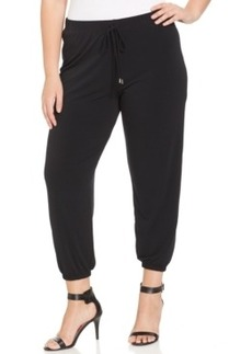 Alfani Plus Size Cropped Jogger Pants